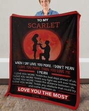 """Personalized When I Say I Love U To Girlfriend Fleece Blanket - 50"""" x 60"""" aos-coral-fleece-blanket-50x60-lifestyle-front-02a"""