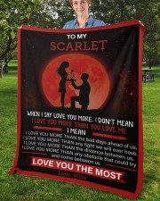 """Personalized When I Say I Love U To Girlfriend Fleece Blanket - 50"""" x 60"""" aos-coral-fleece-blanket-50x60-lifestyle-front-02b"""