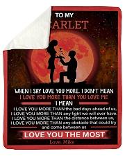 Personalized When I Say I Love U To Girlfriend Sherpa Fleece Blanket tile