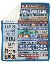 Today Is A Good Day Have Great Day Dad To Daughter Sherpa Fleece Blanket tile