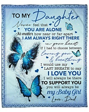 "Never Feel That U Are Alone Dad To Daughter Fleece Blanket - 50"" x 60"" front"