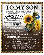 "I Hope U Believe In Yourself Mom To Son Fleece Blanket - 50"" x 60"" front"