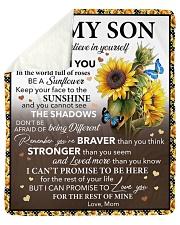 I Hope U Believe In Yourself Mom To Son Sherpa Fleece Blanket tile