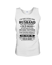 Lucky One I've A Crazy Husband Also Grumpy Old Man Unisex Tank thumbnail
