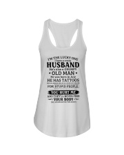 Lucky One I've A Crazy Husband Also Grumpy Old Man Ladies Flowy Tank thumbnail