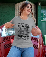 Lucky One I've A Crazy Husband Also Grumpy Old Man Ladies T-Shirt apparel-ladies-t-shirt-lifestyle-01
