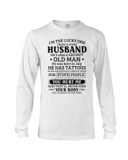Lucky One I've A Crazy Husband Also Grumpy Old Man Long Sleeve Tee thumbnail