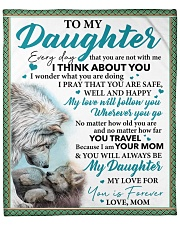 """Everyday I Think About You - Mom-To-Daughter Fleece Blanket - 50"""" x 60"""" front"""