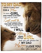 "Dad Lion You'll Always Be My Dad My Hero ILove You Fleece Blanket - 50"" x 60"" front"