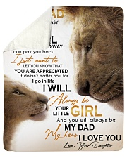 Dad Lion You'll Always Be My Dad My Hero ILove You Sherpa Fleece Blanket tile