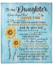 """Sunflower Never 4get I Love U Dad To Daughter Fleece Blanket - 50"""" x 60"""" front"""