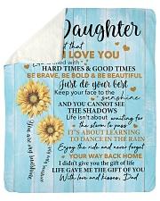 Sunflower Never 4get I Love U Dad To Daughter Sherpa Fleece Blanket tile