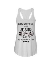 Happy Father's Day to my Amazing Stepdad Ladies Flowy Tank thumbnail