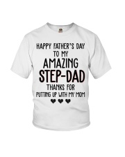 Happy Father's Day to my Amazing Stepdad Youth T-Shirt thumbnail