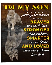 """You Are Braver Stronger Smarter Loved Dad To Son Fleece Blanket - 50"""" x 60"""" front"""