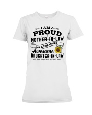 I Am A Proud MIL Of A Freaking Awesome DIL Premium Fit Ladies Tee thumbnail