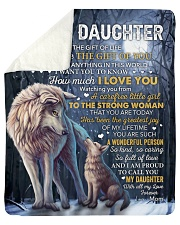 """I Didn't Give U Gift Of Life Wolf Mom To Daughter Sherpa Fleece Blanket - 50"""" x 60"""" thumbnail"""