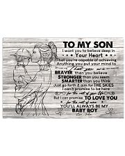 I Want U To Believe Deep In Your Heart-Mom To Son Horizontal Poster tile