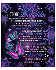 """Never Forget The Most Important Thing To Daughter Fleece Blanket - 50"""" x 60"""" front"""