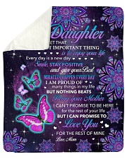 """Never Forget The Most Important Thing To Daughter Sherpa Fleece Blanket - 50"""" x 60"""" thumbnail"""