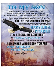"I Believe U Can Overcome Mom To Son Fleece Blanket - 50"" x 60"" front"