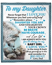 "Never Forget That I Love You Dad To Daughter Fleece Blanket - 50"" x 60"" front"