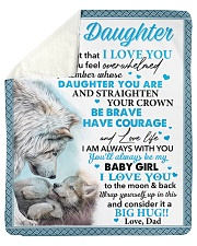 "Never Forget That I Love You Dad To Daughter Sherpa Fleece Blanket - 50"" x 60"" thumbnail"