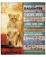 """Lion- Never Forget That I Love U Mom-To-Daughter Fleece Blanket - 50"""" x 60"""" front"""