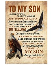 I Closed My Eyes For But A Moment Eagle Mom To Son Vertical Poster tile