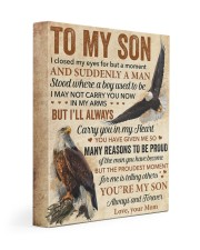 I Closed My Eyes For But A Moment Eagle Mom To Son Gallery Wrapped Canvas Prints tile