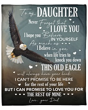 """Never Forget I Love You Eagle Dad To Daughter Fleece Blanket - 50"""" x 60"""" front"""