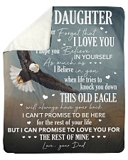 """Never Forget I Love You Eagle Dad To Daughter Sherpa Fleece Blanket - 50"""" x 60"""" thumbnail"""