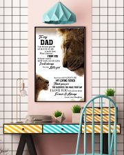 To My Dad I Love you With All My Heart 11x17 Poster lifestyle-poster-6