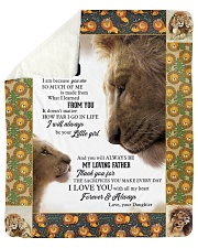 """To My Dad I Love you With All My Heart Sherpa Fleece Blanket - 50"""" x 60"""" thumbnail"""