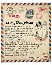 "Big hug-Never forget that I love U Dad-To-Daughter Fleece Blanket - 50"" x 60"" front"