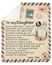 Big hug-Never forget that I love U Dad-To-Daughter Sherpa Fleece Blanket tile