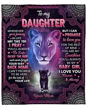 """Whenever Your Journey In Life Lion Mom To Daughter Fleece Blanket - 50"""" x 60"""" front"""