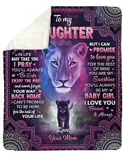 """Whenever Your Journey In Life Lion Mom To Daughter Sherpa Fleece Blanket - 50"""" x 60"""" thumbnail"""