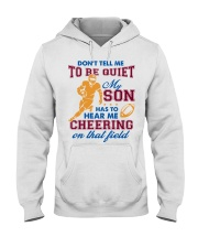 Don't Tell Me To Be Quiet Hooded Sweatshirt thumbnail