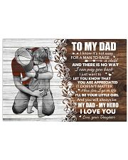 I Know It's Not Easy For A Man Daughter To Dad Horizontal Poster tile