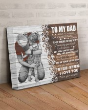 I Know It's Not Easy For A Man Daughter To Dad 14x11 Gallery Wrapped Canvas Prints aos-canvas-pgw-14x11-lifestyle-front-07