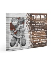 I Know It's Not Easy For A Man Daughter To Dad 14x11 Gallery Wrapped Canvas Prints front
