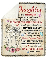 """Daughter Remember How Much You Are Loved Sherpa Fleece Blanket - 50"""" x 60"""" thumbnail"""