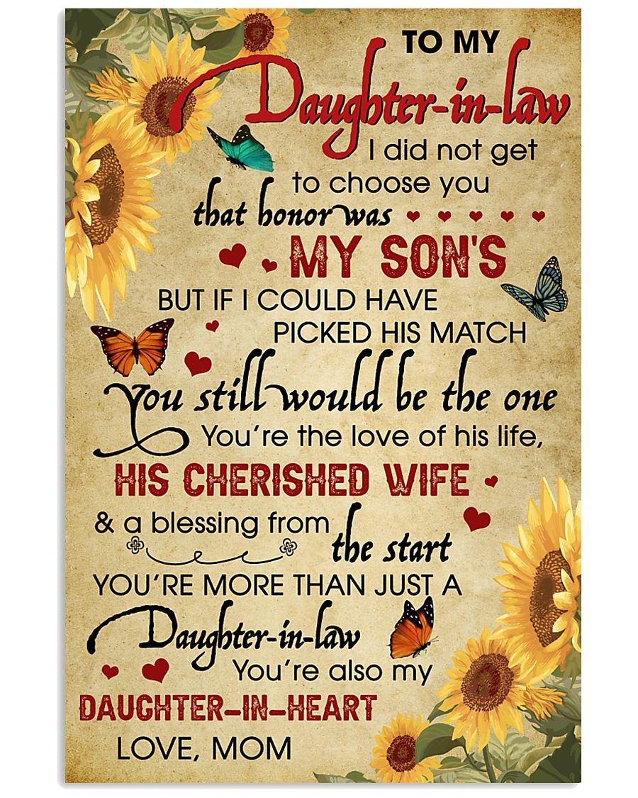 Daughter-In-Law Sunflower U Still Would Be The One 11x17 Poster