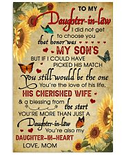 Daughter-In-Law Sunflower U Still Would Be The One 11x17 Poster front
