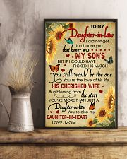 Daughter-In-Law Sunflower U Still Would Be The One 11x17 Poster lifestyle-poster-3
