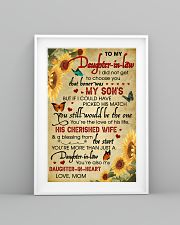 Daughter-In-Law Sunflower U Still Would Be The One 11x17 Poster lifestyle-poster-5