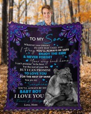 """Wherever Your Journey In Life Mom To Son Fleece Blanket - 50"""" x 60"""" aos-coral-fleece-blanket-50x60-lifestyle-front-01b"""