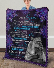 """Wherever Your Journey In Life Mom To Son Fleece Blanket - 50"""" x 60"""" aos-coral-fleece-blanket-50x60-lifestyle-front-02a"""