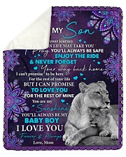 Wherever Your Journey In Life Mom To Son Sherpa Fleece Blanket tile